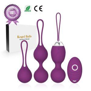 Bolas chinas para ejercicios de Kegel y entrenamiento del suelo pélvico - Bolas chinas ACVIoo bolas para masturbación con mando
