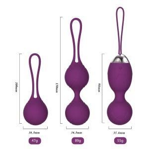 Bolas chinas para ejercicios de Kegel y entrenamiento del suelo pélvico - Bolas chinas Acvioo tamaño 3