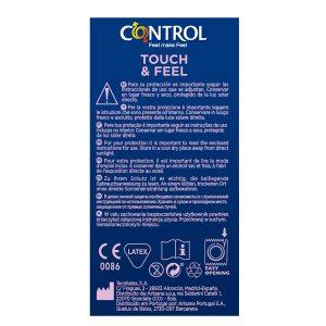 Preservativos para parejas - Preservativos con estrías, puntos, texturas y estríados - Control Touch & Feel Preservativos texturados