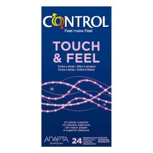 Preservativos para parejas - Preservativos con estrías, puntos, texturas y estríados - Control Touch & Feel Preservativos