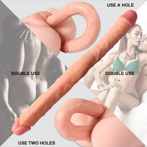 Juguetes sexuales para mujeres - Dildos y consoladores realistas - Dildo doble para lesbianas