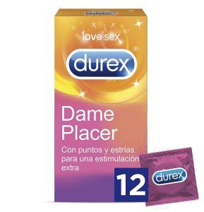Preservativos para parejas - Preservativos con estrías, puntos, texturas y estríados - Durex Dame placer condones
