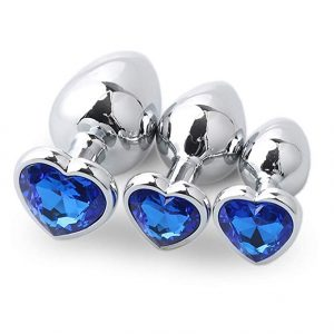 Juguetes sexuales para sexo anal - Plugs anales - Familizo plug anal de corazón azul