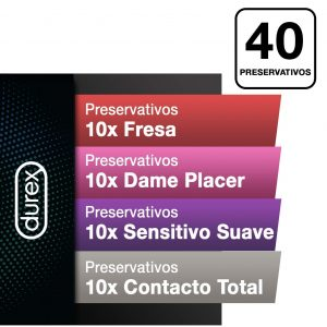 Juguetes sexuales para parejas - Packs de preservativos - Preservativos Fun mix de durex - Durex 40 unidades
