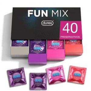 Juguetes sexuales para parejas - Packs de preservativos - Preservativos Fun mix de Durex