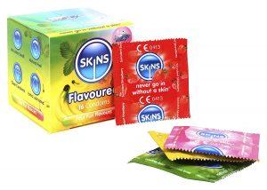 Preservativos de sabores - Preservativos Skins 4 sabores variados