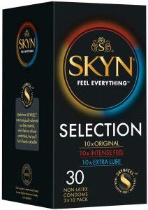 Preservativos sin látex - Preservativos SKYN - Condones SKYN Selection caja
