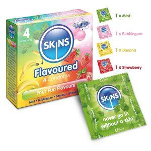 Preservativos de sabores - Preservativos Skins 4 sabores