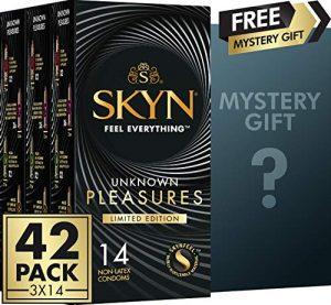 Preservativos sin látex - Preservativos SKYN - Condones SKYN Unknown pleasure caja
