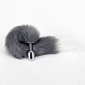 Juguetes sexuales para sexo anal - Plugs anales - Plug con cola de zorro de pelo