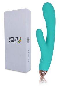 Vibradores de doble cabezal - Vibradores para mujeres - Consoladores de conejito - Vibrador Sexual Femenino Recargable con USB Sweet&Hot 2