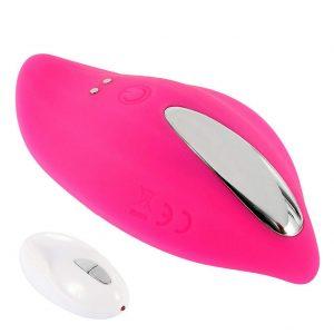 Juguetes sexuales para parejas - Vibradores con control remoto y mando - Vibrador con control remoto pequeño con mando rosa