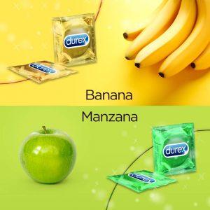 Preservativos de sabores - Preservativos Durex 144 banana y manzana