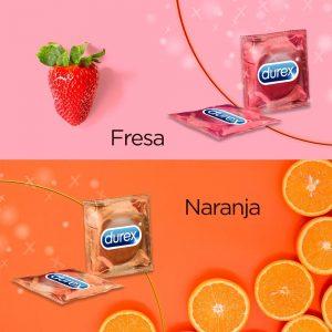 Preservativos de sabores - Preservativos Durex 144 Fresa y naranja