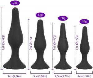 Plugs anales - Juguetes para sexo anal - Plugs bemalia por tamaños