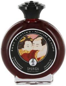 Productos sexuales para parejas - Pinturas comestibles para parejas - Pinturas corporal Shunga para bodypainting de cereza