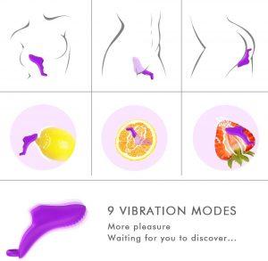 Juguetes sexuales de fundas para dedos - Vibradores de dedo básicos posiciones