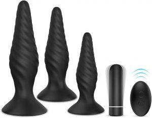 Plug anal con NightFly de 3 piezas diferentes - Los mejores plugs anales que comprar por internet - Mejor plug anal para sexo anal